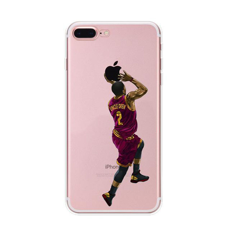 styled soft mobile phone shell Basketball Phone Case Cover For iphone X 7 8 6 PLUS SE 5 XR XS MAX in Half wrapped Cases from Cellphones Telecommunications