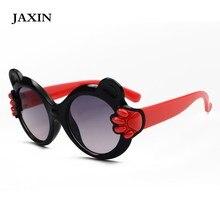 JAXIN Personality Round Cat Head Kids Sunglasses Girl Retro Color Border Sun Glasses Boy Small Hand Shy Cute glasses UV400