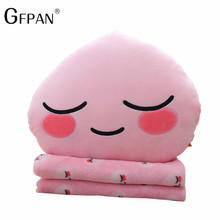 GFPAN 1pc 35cm Kakao Friend & Blanket Stuffed&plush Toy Soft frodo Ryan tube apeach nap Pillow For Kids Best Gift Home Decro