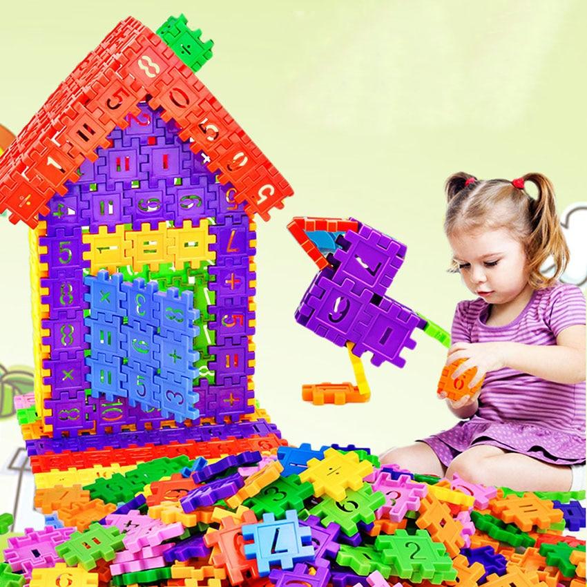 66pcs Jigsaw Puzzle DIY Model Kids Toy Multicolor Assemble 3D Building Puzzle with Digital Girl Boy Children Gift