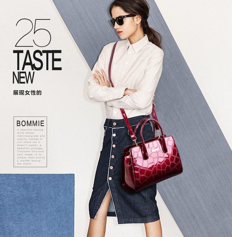 Nouveau Verni Portable 2 7 Épaule 6 Femme 4 Sac Grand Mode 1 Une Femelle 5 Cuir 3 En Atmosphérique HxFHwgRd