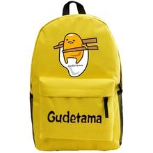 Japan Cartoon Gudetama Druck Rucksäcke für Teenager Mädchen Lustige Eigelb Leinwand Rucksack Frauen Reisen Rucksack Schultasche L94