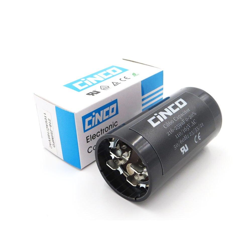 Home 216-259 Uf 110 V 125 V 165 V Cd60 Motor Starten Kondensatoren Motor Ausgangs 216-259 Mfd Uf Mf Kompressor Hvac Elektrolytischen 110vac 125vac