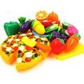 13 pçs/set pretend play clássicos da cozinha toys qiele corte interativa saúde diy brinquedo das crianças dos miúdos menina favorita frutas legumes