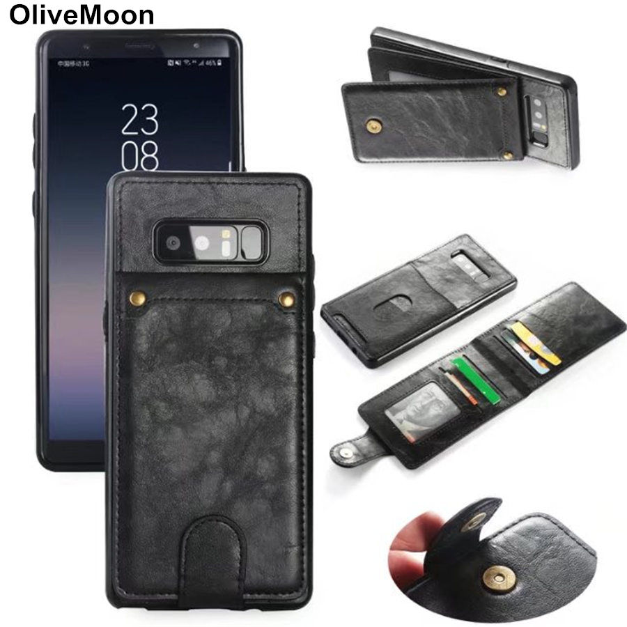 Wallet Learher Case For Samsung Galaxy Note 8 S8 S8 Plus Detachable Card Slot Phone Case For Samsung Note 8 S8 S8 Plus Coque