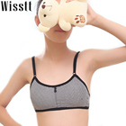 Boy pan Young girl stripe cotton double breasted underwear bra cute Young Girl Bra Wire Free Training Small Vest Design