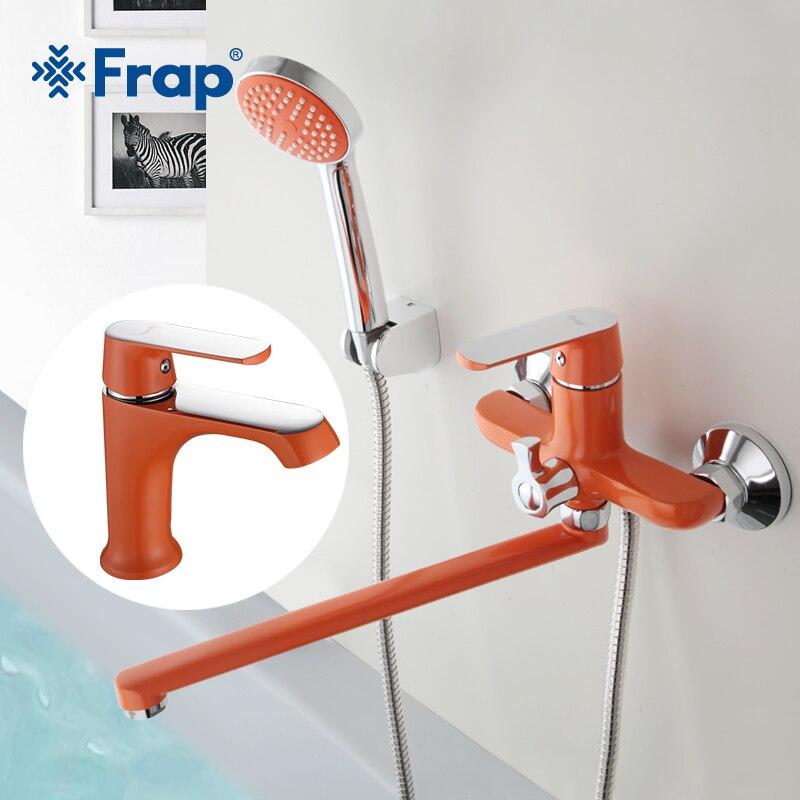 Frap новый набор 350 мм выпускная труба Ванна смеситель для душа с ванная краны холодной и горячей Смеситель латунный корпус F2231 + 1031