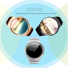 Free shipping!KW18 Smart GSM Phone Watch BT 4.0 Heart Rate Monitor Pedometer For Ios,Android