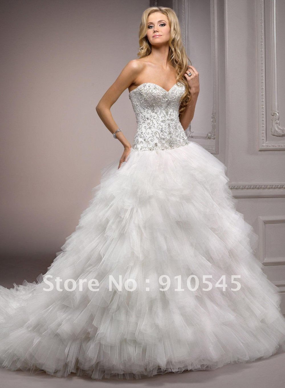 Online Shop Breathtaking ! Ball Gown in Tulle anf Organza ...