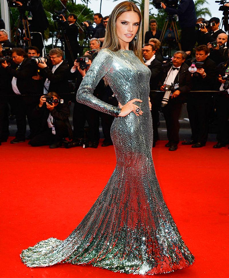 Celebrity red carpet long sleeve prom dress mermaid 2016 silver glitter party evening formal - Silver red carpet dresses ...