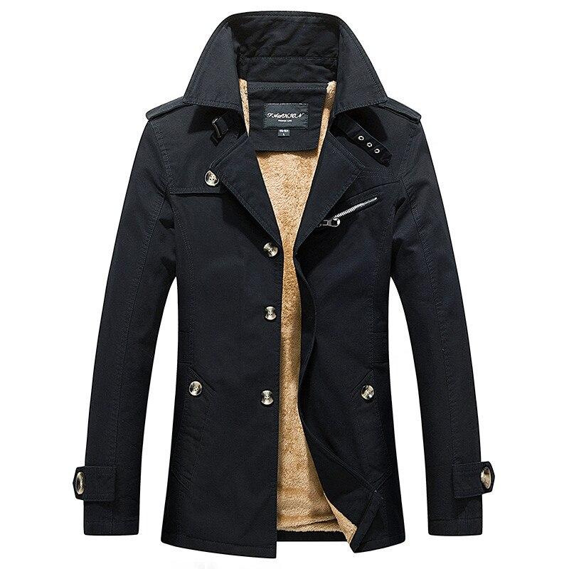 Männer Graben Mantel Klassische Graben Winddicht Kleidung Dicke Warme Lange Jacken Britischen Stil Mantel Männlichen Outwear Plus Größe 5XL-in Trench aus Herrenbekleidung bei  Gruppe 1