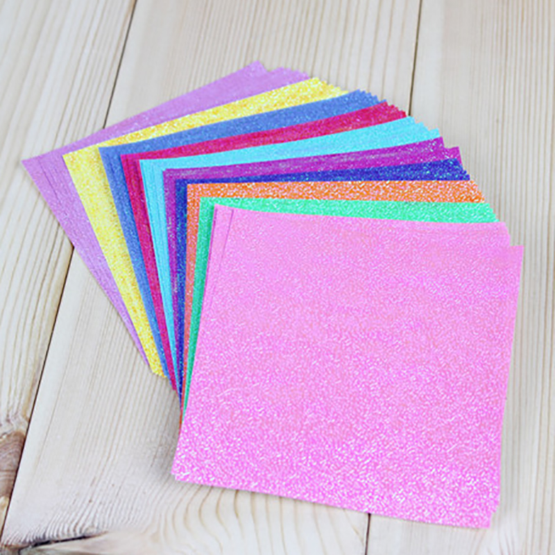 25 шт./лот, 15x15 см, квадратная блестящая бумага для рукоделия, 10 цветов, перламутровая бумага, журавли, оригами, ручная работа для детей, сделай сам