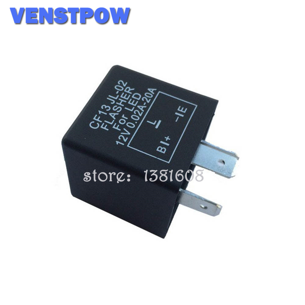 3-Pin Car Truck Flasher Relay to Fix LED Light Turn Signal Indicator Hyper Flash