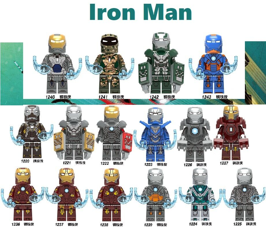 Set sale Building Blocks Figures Bricks Super Heroes Iron Man Tony Stark Bricks Mark 31 For Kids Toy X0253 X0255 <font><b>KF6066</b></font> KF6093 image