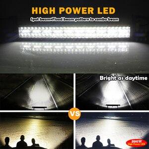 """Image 4 - CO işık 42 """"780 W Led bar ışığı Offroad 3 satır Combo Led İş işık 12V 24V 390W 585W için sürüş lambası Niva kamyon 4x4 tekne ATV"""