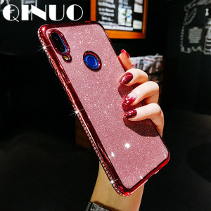Soft Silicone Rhinestone Case For Xiaomi Redmi Note 8 7 5 Plus Bling Glitter Diamond case For Redmi K20 5 6 6A 7 Crystal Funda(China)