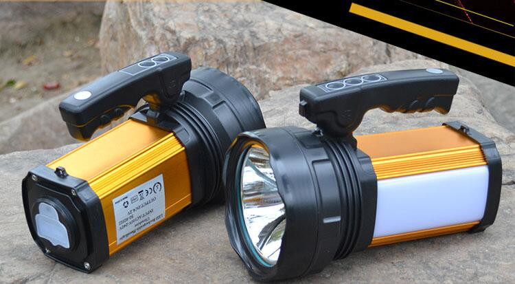 ФОТО The searchlight outdoor charge Long distance remote fishing light hunting big LED  torch waterproof Free shipping