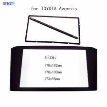 Автомобиль Радио Фризовая подходит для TOYOTA Avensis панель стерео уход за кожей лица плиты аудио ободок черточки Mount Kit Адаптерная рамка 2din DVD рамки
