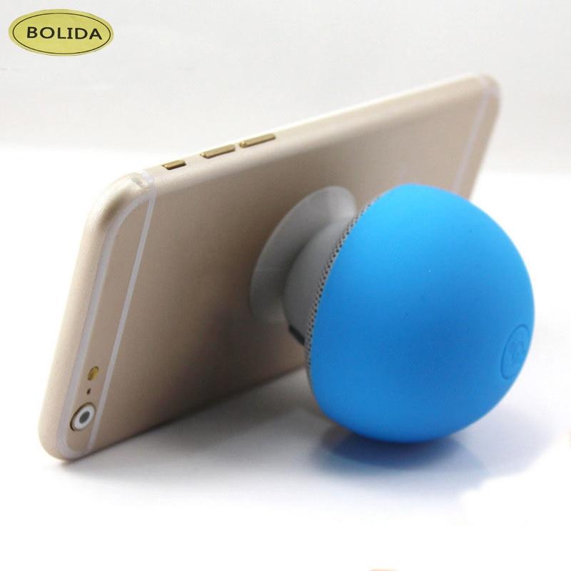 Bolida  Mini Mushroom Wireless Bluetooth Speaker Portable Waterproof Shower Stereo with Silicon Suction Handfree Holder