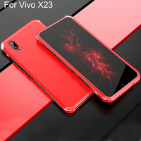 Cases For vivo X23 Case Hard Back PC Metal Bumper Business For vivoX23 cover Phone Case For vivo X23 Metal shell