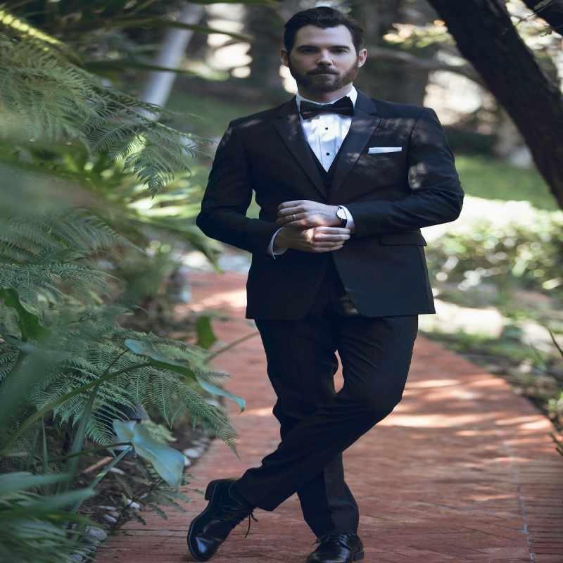 2018 для мужчин s официальная одежда на заказ мужской костюмы Slim Fit Свадебные (куртка + брюки для девочек жилет)