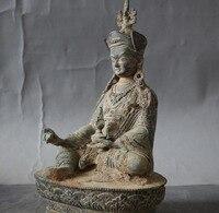 christmas Old Tibet Buddhism Temple bronze Guru Rinpoche Padmasambhava Vajra Buddha Statue halloween