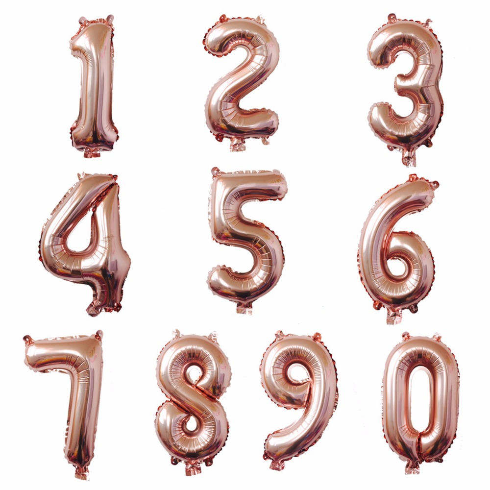 LAPHIL 32inch Happy Birthday Balloons Numbers 0 1 2 3 4 5 6 7 8 9 Year Party Decorations Kids Gold Silver
