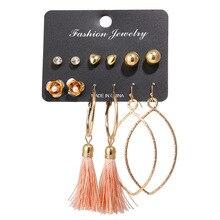 New Design Long Tassels Earrings Set for Women Girl 2018 Bohemian Flower Fashion Jewelry Earings