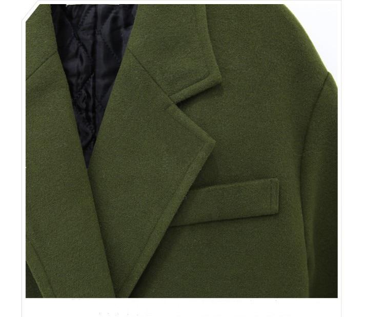 Green Simple uni Mujer Manteau Chaud Militaire Hiver Look Printemps gris 2019 Cachemire Surdimensionné Épaissir Royaume Femmes Bleu army Long Maxi Noched Abrigos Pardessus TgEwBE