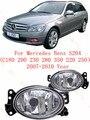 Для mercedes-benz C180 S204/200/230/280/350/220/250 2007/08/09/10 Противотуманные Фары ПРОТИВОТУМАННЫЕ фары автомобилей стайлинг Овальные