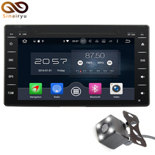 Octa Core 1024*600 2 Din Android 6.0 RAM 2G Car DVD Multimedia DVD Player Radio Stereo 3G/4G WIFI GPS Map For Toyota HILUX 2016