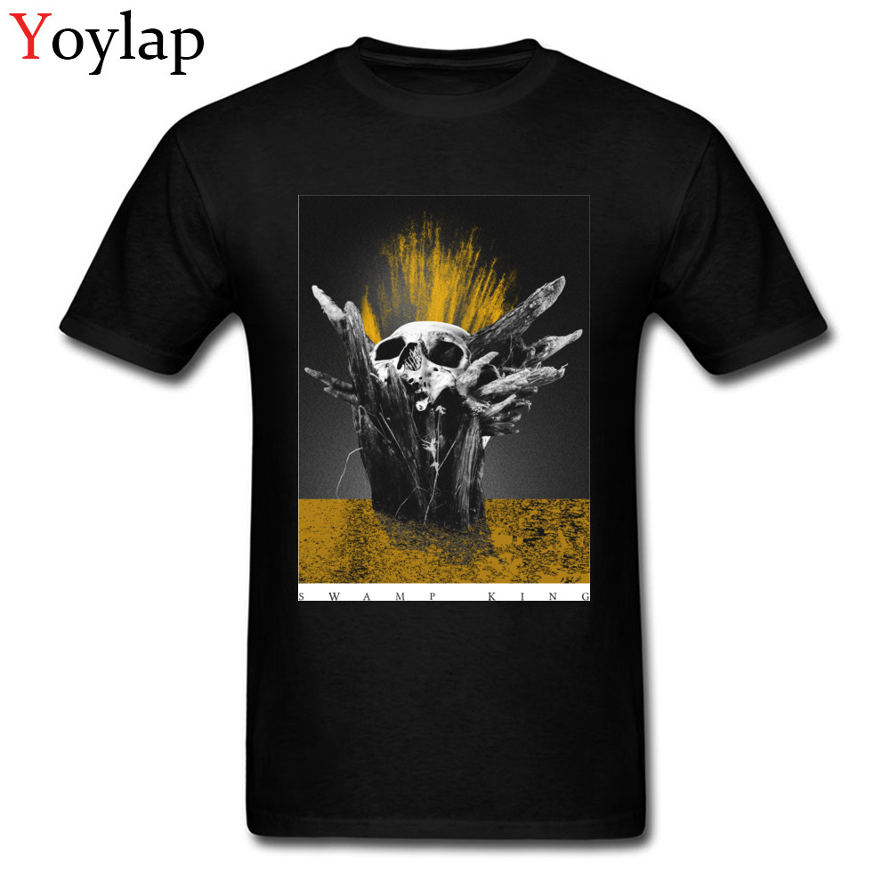 Swamp King T-shirts Family Short Sleeve Wholesale O Neck Pure Cotton Tops Shirts Geek Tee Shirts for Men Autumn