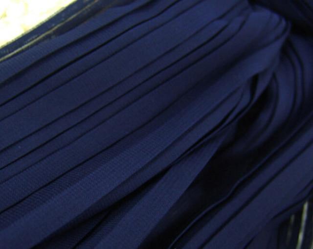 2 Meters 150cm 59 Width Dark Blue Crumple Accordion Pleated Chiffon