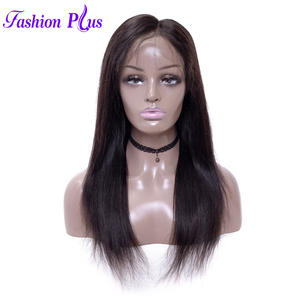 Fashion Plus Remy Peruvian Straight Human Hair Wigs Natural Color Pre Plucked Hairline Full Lace Wigs With Baby Hair 8-30 Inch