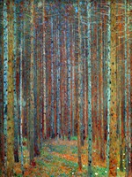 High quality Gustav Klimt Canvas Oil paintings Trees TANNENWALD PINE FOREST painting reproduction 100%hand painted