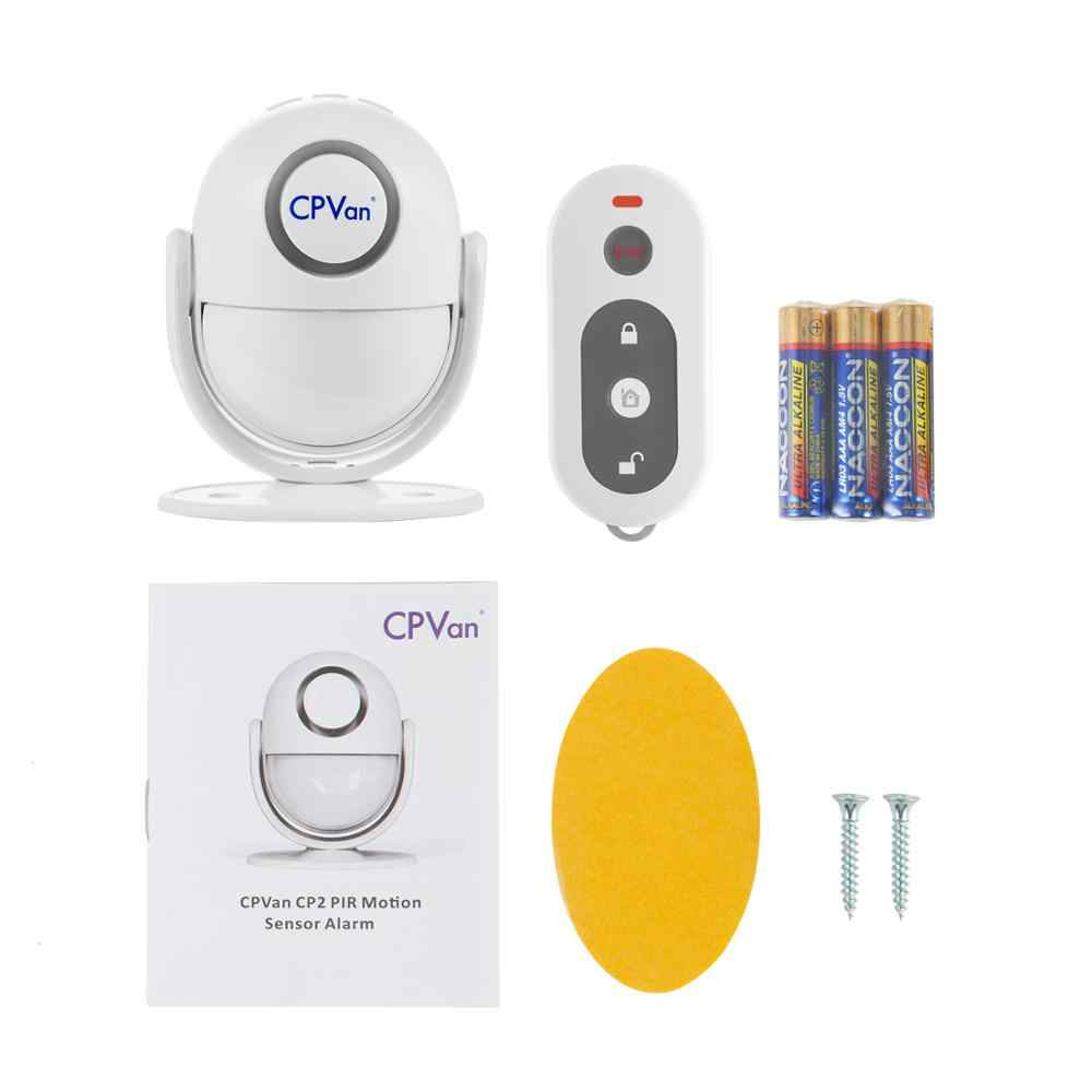 ... CPVAN Wireless Motion Sensor Alarm Infrared PIR DIY Motion Detector Burglar Alarm System with Remote Control