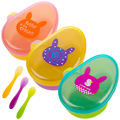 New Baby Feeding Prato Infantil Pp Platos Dinnerware Lunch Box Food Container Baby Eating Tableware for Children Spoon Kids Bowl