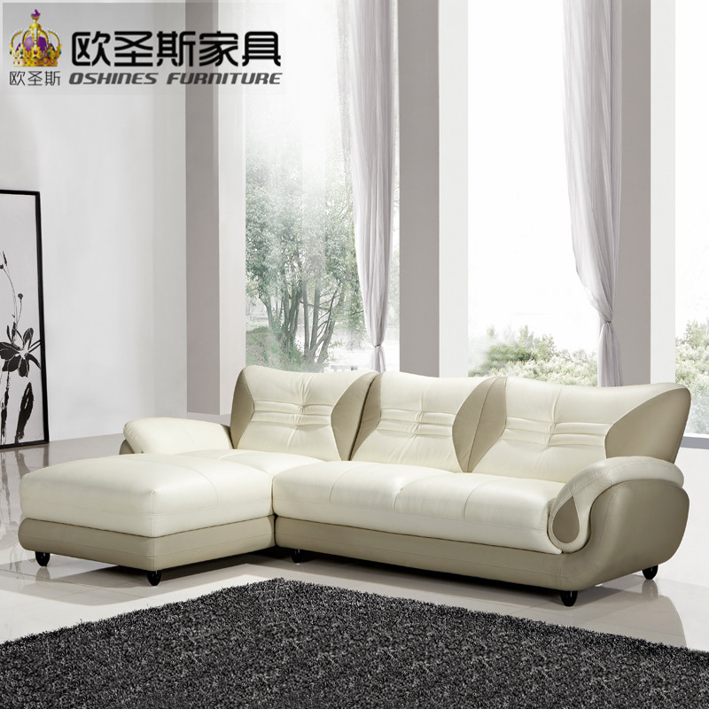 Turkish Sofa Furniture Black And White Modern L Shaped Corner Shiny Leather Sectional Set Designs For Drawing Room 621 In Living Sofas From