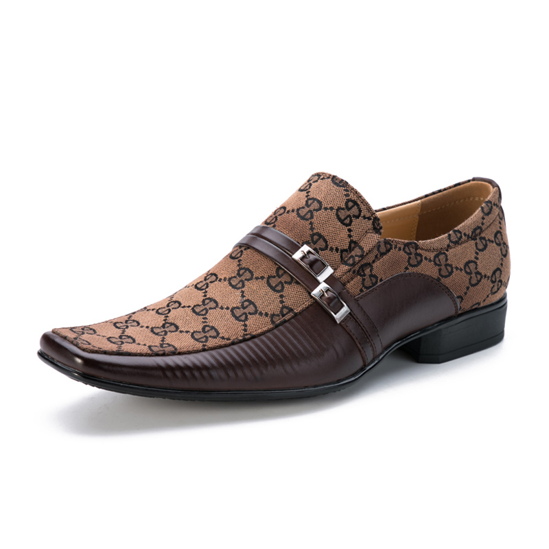 New Men Slip on Buckle Dress Fromal Office Loafer Shoes Male Oxfords Handmade Business Shoes Sapatos