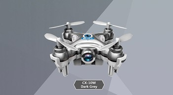 CX-10W RC Quadcopter Cheerson Wifi FPV 0.3MP Camera LED 3D Flip Update Version Mini Drone with Camera Helicopter Toy Gift FSWB