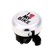 4Color Bicycle Bell 'I Love My Bike' Printed