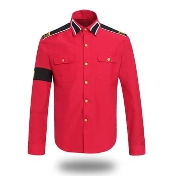 цена на MJ Professional Cosplay MICHAEL JACKSON Costume CTE Style Shirt For MJ Fans White Black RED Colors
