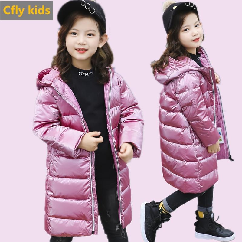Детская зимняя куртка, куртка на утином пуху для девочек и мальчиков, зимний пуховик, парка с капюшоном для девочек, детское зимнее пальто, з...