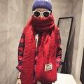 Осень зима сплошной цвет Этикетки джокер мужчины женщины согреться caddice шарф супер мягкий шарф полосатый трикотаж