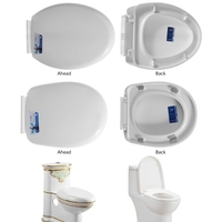 High Quality Toilet Seat With Grip Tight Bumper U/V Type Descending Cover Adjustable Toilet Seat