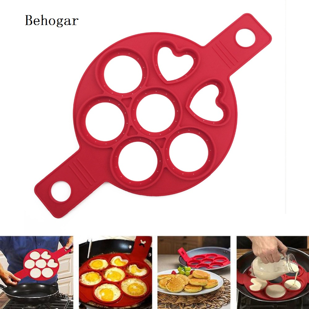 Behogar Silicone Cake Pan Maker Eggs Mold Baking Tools