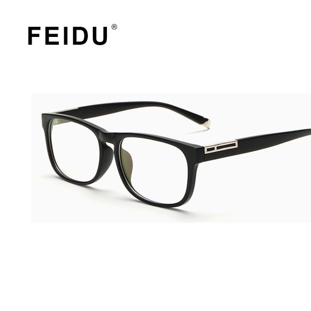 FEIDU Способа Высокого Качества Классические Квадратные Очки Кадр Женщины Мужчины анти Blu ray Прозрачные Линзы Очки Кадр Женщины Мужчины óculos
