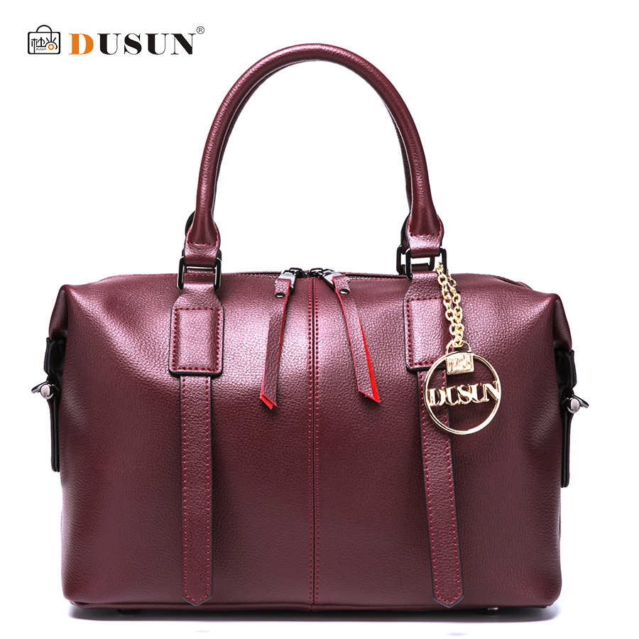 DUSUN Women Solid Color Handbag Large Capacity Fashion Shoulder Bag Classic Black Messenger Bag Famous Brand Women Pillow Tote manufacturer xenon wall switch 110 240v smart wi fi switch button glass panel 1 gang ivory white eu touch light switch panel