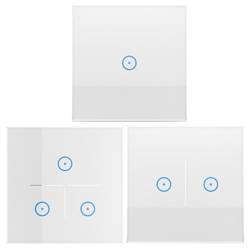 1/2/3 Gang Smart WIFI Life APP 86 Type Remote Touch Screen Voice Control Wall Switch Panel Works with Alexa Google Home jinvoo app us type smart wifi switch 2 gang 1 way touch panel wireless remote wifi light switch works with alexa google home