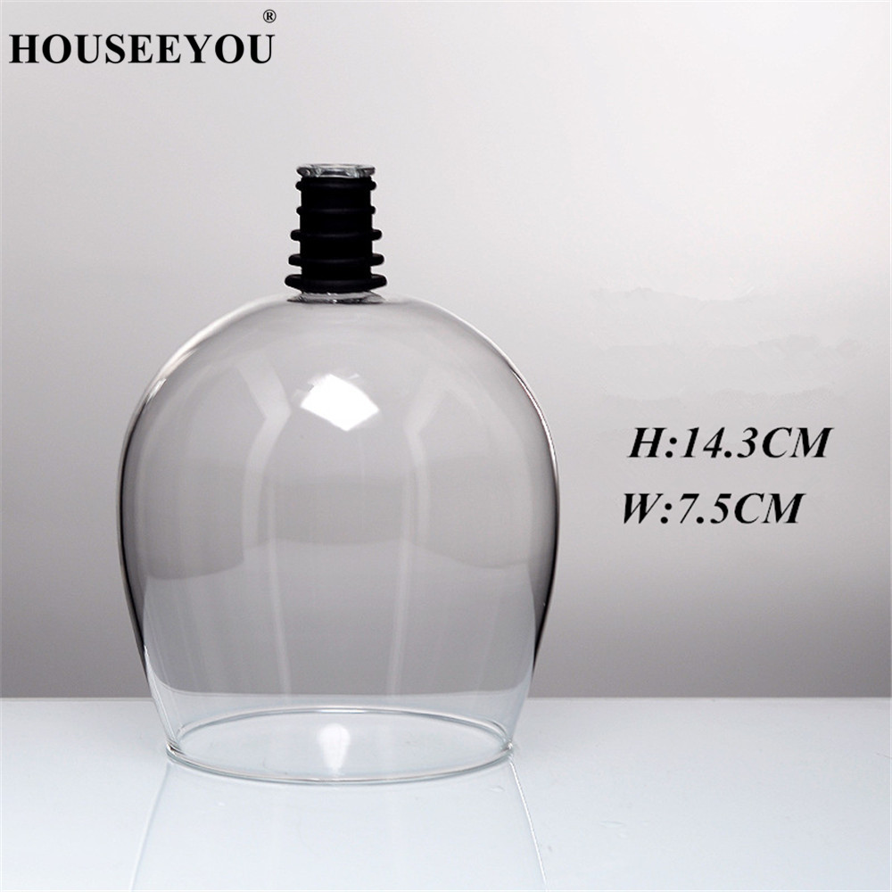 HOUSEEYOU Creative Red Wine Champagne Glass Cup with Silicone Seal Drink Directly from Bottle Crystal Glasses HOUSEEYOU Creative Red Wine Champagne Glass Cup with Silicone Seal Drink Directly from Bottle Crystal Glasses Cocktail Mug 260ML